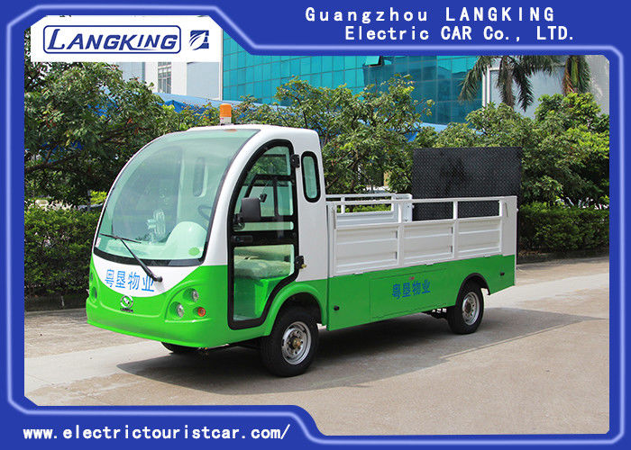 1.2 Ton Electric Carbage Collection Car / Tourist Electric Utility Carts 2 Seats 90km For Range With Door